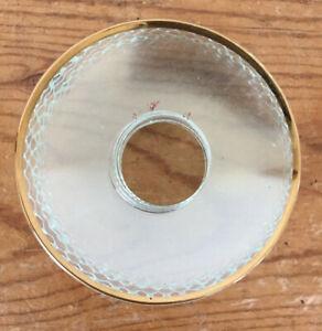 Set of 9 Biedermann Sons Glass Bobeche Serrated Edge M30 Candle Drip Catcher
