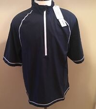 Cutter & Buck Golf Pullover Blue Sz M Zip Wind Water Resistant Activewear New