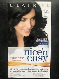 Clairol Nice n Easy Natural Black 122 Brand New Box