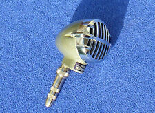 Vintage Astatic JT 30 Bullet Blues Harp Microphone, crystal element with adapter