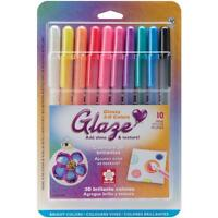 Sakura 'Glaze' Glossy 3D Colors Set of 10 Bright Color Texture Pens 265435