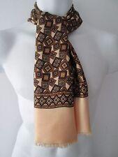 Vintage Mens 60s Patterned Silk Style  Scarf Mod/Dandy  (7805E)
