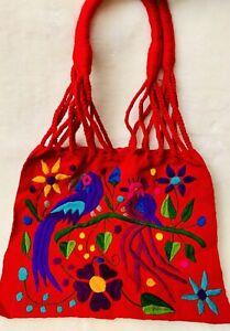 "Mexican Embroidered ToteHandbag 100% Mexicana Bolsa Artesanal Enbordadad ""13-16"""