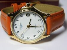 CLASSIC SWISS MADE ROTARY GOLD PLATED WATCH WITH SWISS ISA JEWELLED MOVEMENT