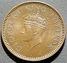 Old Foreign World Coin: 1939-C British India 1/2 Pice