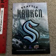 "Seattle Kraken Expansion Draft Upper Deck Event Exclusive Promo Hockey Card 7x5"""