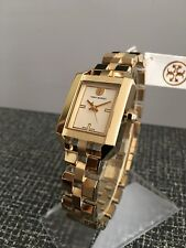 e8062d2b119a Tory Burch TRB1100 Women s Dalloway Ivory Dial Gold-tone Bracelet Watch