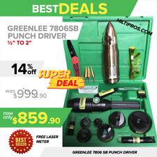 """GREENLEE 7806SB HYDRAULIC PUNCH DRIVER KIT (1/2"""" - 2""""), PREOWNED, A LOT OF EXTRA"""