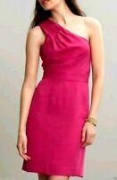 Banana Republic Women's size 0P Petite Pink One Shoulder Dress 91K