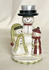 Yankee Candle Snowman Tea Light Christmas Holiday Winter Candle Holder No Shade