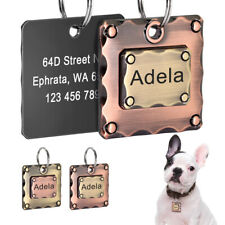 Personalised Dog ID Tags Heavy Duty Custom Pet Dog Name Address Discs Engraved