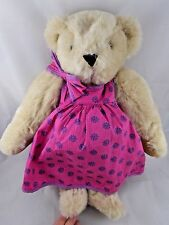 Vermont Teddy Bear Plush Tan Pregnant Dress 16""