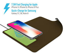 10W Qi Wireless Fast Charging Charger 2in1 For Cell Phone & Mouse Pad Green