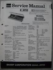 SHARP SG-450 H HB Service Manual
