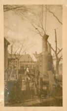 c1910 Occupation Man Large Steam Boiler Machinery Chain Drive RPPC Real Photo