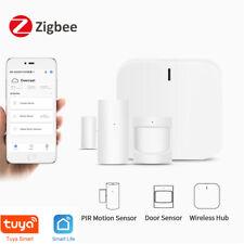 Zigbee Smart Home Alarm Kit Home Automation Hub Door Sensor Pir Motion w/ Alexa