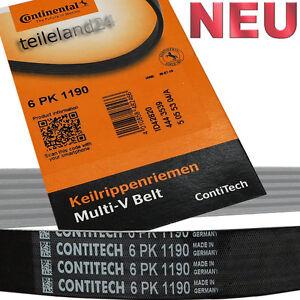 Continental Keilrippenriemen 6pk1190 ohne Klima Nur Generator oder Servolenkung