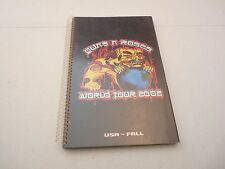 Guns & Roses RARE 2002 Chinese Democracy USA Fall Concert Tour Itinerary