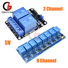 2/8 CH Channel 5V Relay Module With Optocoupler Fit For Arduino PIC AVR DSP ARM