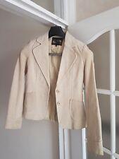Ladies Beige Suede Jacket - Size 12