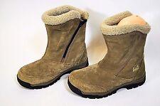 SOREL Waterfall Tan Suede Thinsulate Winter Waterproof Zip Up Boots EU 38 - US 7