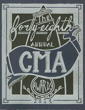 2014 CMA Program Book Carrie Underwood Brad Paisley Keith Urban Miranda Lambert