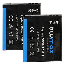 2x Akku für Panasonic DMW-BCM13 | 65223 | Lumix DMC-FT5 TZ41 TZ58 TZ61 TZ71 ZS30