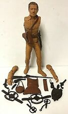 "Vintage 1964 Daniel Boone 12"" Marx Cowboy Action Figure Toy With Accessories"
