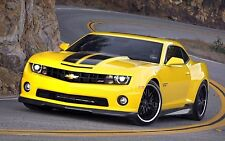 2009 CHEVROLET CAMARO SS (Yellow) POSTER | 24 x 36 INCH | muscle car |