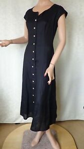 SIZE-10, TABLE EIGHT Beautiful Black Dress Made in Australia.