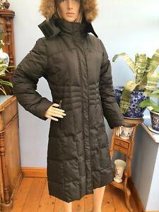 Trespass Black Feather Zip Parka Jacket Coat with Hood Size L