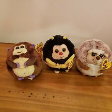Lot of 3 - Ty Beanie Ballz Collection - Prickles Bananas -  Zips - with Tags