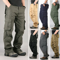 Men's Multi-pocket Cargo Military Pants Casual Work Combat Army Loose Trousers