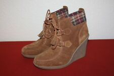 88b52b9f6cd TOMMY HILFIGER UK 7.5 EU 40.5 US 9.5M HIGH HEEL WOMENS WEDGE SUEDE ANKLE  BOOTS
