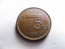 5 Cent Niederlande In Münzen Aus Den Niederlande Vor Euro Einführung