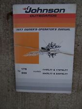 1977 Johnson Outboard Motor 175  200 HP Owner Operator Manual MORE IN STORE  S
