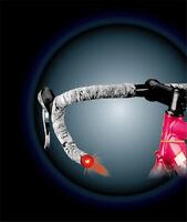 Q-LITE Road Bar End Light Racing Bike 2 Mode Steady Flash Red Bike Bar End Light