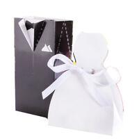 50/100x DRESS & TUXEDO BRIDE GROOM WEDDING FAVOR RIBBON CANDY BOMBONIERE