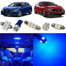 8x Blue LED Interior Lights package kit for 2016-2018 Honda Civic +Tool HC5B