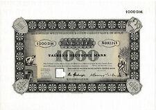 Rheinisch-Westfälische Boden-Credit Bank Köln DM Aktie 1954 Rheinboden Aareal
