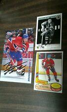 NHL Montreal Canadiens Autograph Lot of 3 - St. Laurent Shutt Prust - Go Habs Go