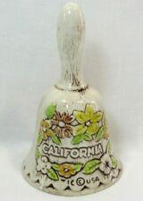 Vintage Souvenir Bell California Butterfly & Flowers Tic Usa
