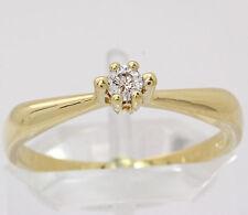 ♦♦ Brillant Ring in 585 14kt Gelb Gold Brilliant Brillantring Diamant Fingerring