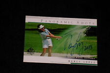 NANCY LOPEZ 2004 SP AUTHENTIC PANORAMIC SHOTS SIGNED AUTOGRAPHED CARD #50 LPGA