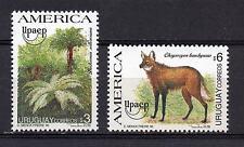 Wildlife fauna mammal Upaep America Palm tree URUGUAY Sc#1585/6 MNH STAMP cv$5.5