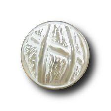 8 transparent-weiße Halbkugelknöpfe (e634-23mm)