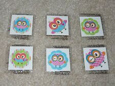 Lot of 12 cute owl temporary children's tattoos birthday party favor goody bags