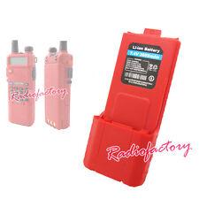 NEW High Capacity 7.4V 3600mAH For UV-5R Dual Band UHF/VHF Radio *RED* Battery