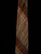 Vintage 594ms-597ms marron, orange, & BLEU TRICOT cravate