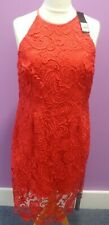 Debut By Debenhams Briony Red Lace Shirt Dress UK 16 BNWT